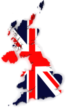 United Kingdom map with flag, VerdeTax.com