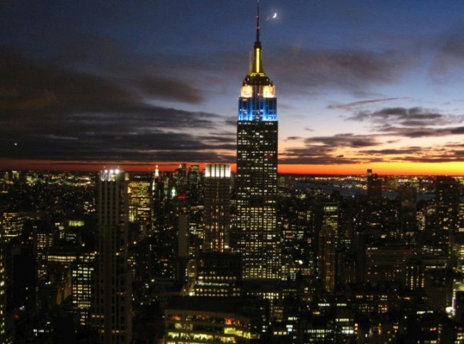New York City, United States of America, Empire State Building at dusk