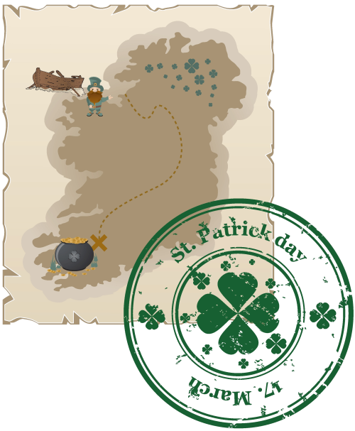 Ireland map, St. Patrick